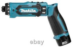 088381838009 Makita DF012DSE power screwdriver/impact driver Black, Blue 650, 200