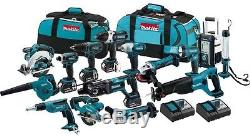 18-Volt LXT Lithium-Ion Cordless Hammer Driver-Drill Impact 15-Tool Combo Kit
