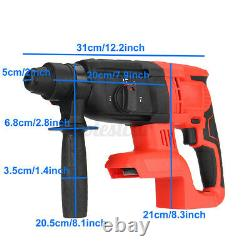 2600W Electric Hammer Drill Demolition Rotary Cordless for Makita 18V Battery