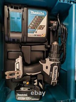 A Makita DHP482RFWJ 18V Cordless Combi Drill Set. Drill, Battery, Charger & Case