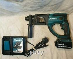 BHR202 Makita 18v LXT SDS three mode hammer drill, 3ah battery & Charger