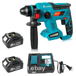 Brushless SDS Plus Rotary Hammer Drill For Makita With2x18V 6.0Ah battery+Charger