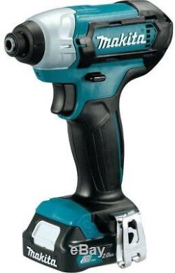 Cordless Drill Impact Driver Combo Power Tool Set Battery Charger Case Compact
