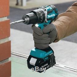 Cordless Hammer Drill Impact Driver Power Tool Combo Kit Brushless Battery 18V
