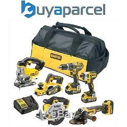 Dewalt XR 18v 6 Piece Brushless Kit + 3 x 5.0Ah Li-Ion Batteries Charger & Bag