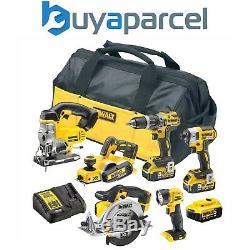 Dewalt XR 18v 6 Piece Brushless Kit + 3 x 5.0Ah Li-Ion Batteries Charger Bag