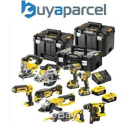 Dewalt XR 18v 9 Piece Brushless Kit + 4 x 5.0Ah Li-Ion Batteries Charger Tstak