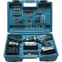 Drill Makita Set 2X Battery 18 V 1.3 Ah Li-Ion 74 Pc Drilling Fixing Carry Case