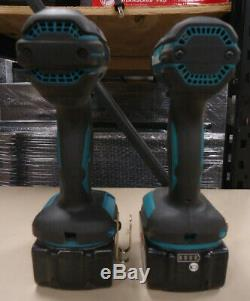 (MA2) Makita 18V Cordless XPH10 1/2 Hammer Drill & XDT11 1/4 Impact Driver