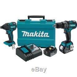 MAKITA 18V 18 volt XT248MB Lith-Ion hammer drill impact driver Combo Kit xt248