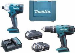 MAKITA 18V 2x 1.3Ah Li-Ion Cordless Combi Drill and Impact Driver DK18015X1