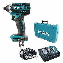 MAKITA 18V DTD152 IMPACT DRIVER, 1 x BL1840 BATTERY, DC18RC CHARGER AND CASE