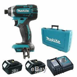 MAKITA 18V DTD152 IMPACT DRIVER, 2 x BL1830 BATTERIES, DC18RC CHARGER AND CASE