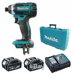 MAKITA 18V DTD152 IMPACT DRIVER, 2 x BL1840 BATTERIES, DC18RC CHARGER AND CASE