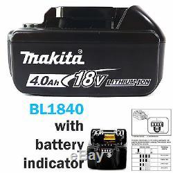 MAKITA 18V LXT BTD129Z IMPACT DRIVER & 2 x BL1840 BATTERIES FUEL CELL INDICATOR