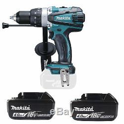 MAKITA 18V LXT DHP458Z COMBI DRILL & 2 x BL1840 BATTERIES FUEL CELL INDICATOR
