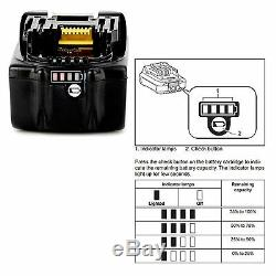 MAKITA 18V LXT DHP458Z COMBI DRILL & 2 x BL1840 BATTERIES FUEL CELL INDICATOR