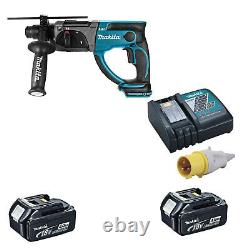 MAKITA 18V LXT DHR202 HAMMER DRILL 2 BL1840 BATTERIES DC18RC 110v CHARGER