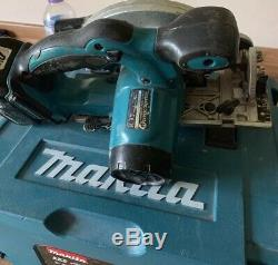 MAKITA 18v Joblot Black Drill & Impact 5x 5ah Batteries Jigsaw And Circular Saw