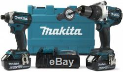 MAKITA Brushless Hammer Drill Impact Driver 18V Cordless 5Ah Battery Charger Set