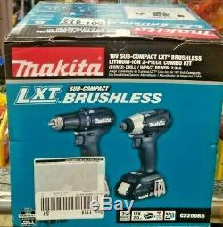 MAKITA CX200RB 18V LXT Sub-Compact Brushless 2-Pc Combo Kit Driver-Drill Impact
