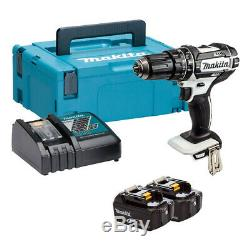 MAKITA DHP482RTWJ 18V Combi Drill with 2 x 5.0Ah Batteries & Charger in Case