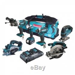 MAKITA DLX6067PT 18v LXT 6 PIECE COMBI KIT 3 5.0ah BATTERIES DRILL CIRCULAR SAW