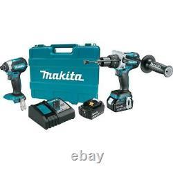 MAKITA XT267M 18V LXT Li-Ion Cordless Hammer Drill/Impact Driver 2-Pc Combo Kit
