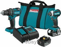 MAKITA XT279S 18V LXT Brushless Cordless Drill/Impact Driver 2-Pc Combo Kit