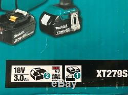 MAKITA XT279S 18V LXT LithiumIon Brushless Cordless Driver Drill Impact Driver