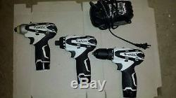 Makita 10.8v Driver-Drill, Impact Driver + 12v max drill 3 battery with charger