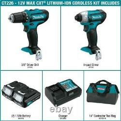 Makita 12-Volt MAX CXT Lithium-Ion Cordless 3/8 in. Drill and Impact Driver Kit
