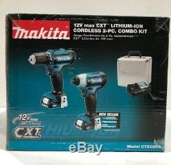 Makita 12V MAX CXT Li-Ion Cordless Impact Driver/Drill Combo Kit CT226RX