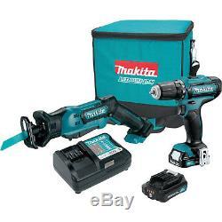 Makita 12V Max CXT Lithium Ion Cordless Recipro Saw & Drill Driver Combo Kit