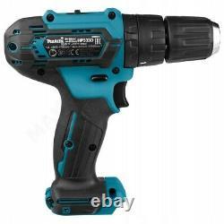 Makita 12v Cordless Combi Hammer Drill & Impact Driver Twin Pack + 74 piece Set