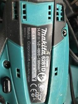 Makita 14.4V TRIPLE DRILL IMPACT Set With 3 Batteries&Charger in Original Case