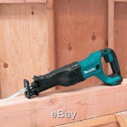 Makita 18-Volt Cordless Tool Combo Kit Drill Impact Driver Recipro Saw Blower