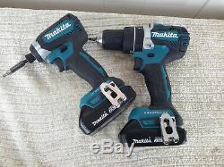 Makita 18-Volt LXT Brushless Hammer Drill & Impact Driver Combo Kit XPH12 XDT13