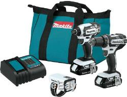 Makita 18-Volt LXT Lithium-ion Cordless Compact Combo Kit (3-Piece) Drill/ With