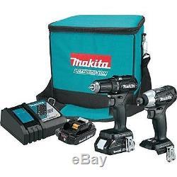 Makita 18 Volt LXT Sub-Compact Brushless Cordless 2PC Drill Combo Kit CX200RB