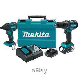 Makita 18V 2.0 Ah Li-Ion BL Hammer Drill & Impact Driver XT248R New