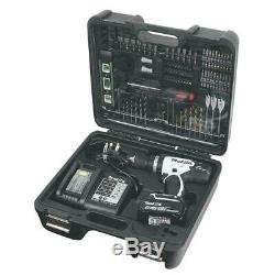 Makita 18V 4.0Ah LXT Cordless Combi Drill Impact + 101 Accessories DHP453SMWX