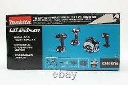 Makita 18V CX401SYB Sub Compact Brushless Hammer Drill Impact Circular Saw