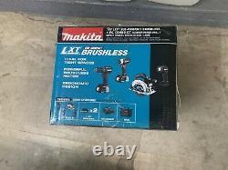 Makita 18V CX401SYB Sub Compact Brushless Hammer Drill Impact Circular Saw kit