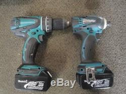 Makita 18V Cordless 5-Piece Combo Kit Hammer Drill Impact Driver Sawzall Saw 2D