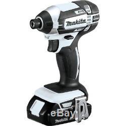 Makita 18V Cordless Compact Combo Kit Drill Impact Driver Flashlight (3-Piece)