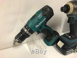 Makita 18V Cordless Drill, Impact Driver, Jigsaw & Batteries 173233/120
