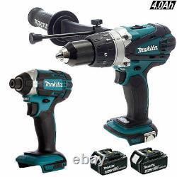 Makita 18V DHP458Z Combi Hammer + DTD152Z Impact Driver + 2 BL1830 Batteries