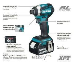 Makita 18V DLX2176RJ Lithium Brushless Kit DHP481 Drill + DTD154 Impact 3.0AH