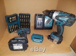 Makita 18V (Impact Driver XDT04 & Hammer Drill Driver LXPH03) 2 Batteries